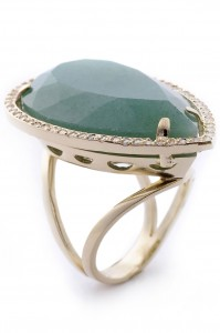 Anel Viena -quartzo verde