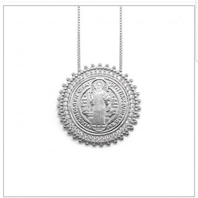 Colar Medalha São Bento - 45cm