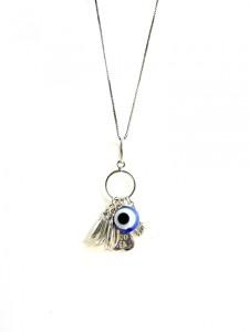 Colar Amuletos sorte - prata 925