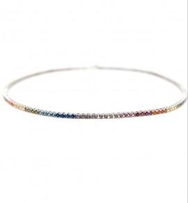 Pulseira Riviera Rainbow Prata  - Ouro