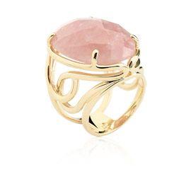 Anel pedra quartzo rosa - Athena