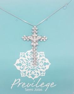 Colar Crucifixo prata