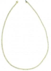 Colar Riviera Prata +ouro - 39cm