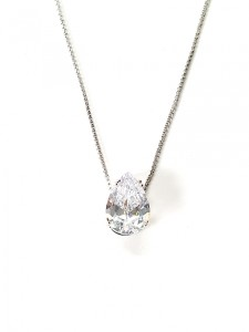 Colar solitário gota diamante