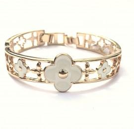 Pulseira Bracelete Trevo - Dourada