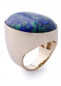 Anel pedra Lapis Lazuli