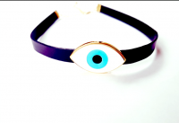Colar Chocker Olho Grego branco