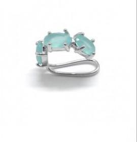 Brinco Piercing  turmalina azul