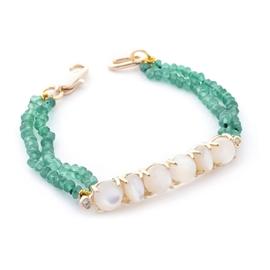 Pulseira verde esmeralda